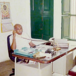 Bhupendra Singh Auwa in his former office, at Ganesh Chowk, c. 1995